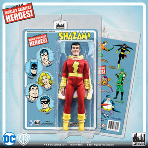 DC Retro Mego Kresge Style Shazam Retro Card Action Figure - Action Figure Warehouse Australia | Comic Collectables