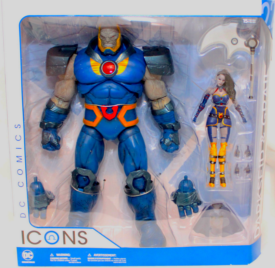 DC Icons Series Darkseid & Grail Action Figure #22 - Action Figure Warehouse Australia | Comic Collectables