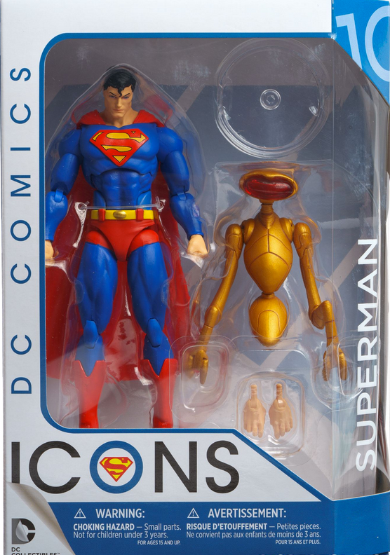 DC Icons Series Superman Man Of Steel Action Figure #10 - Action Figure Warehouse Australia | Comic Collectables