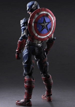 Marvel Square Enix Play Arts Kai Captain America Action Figure