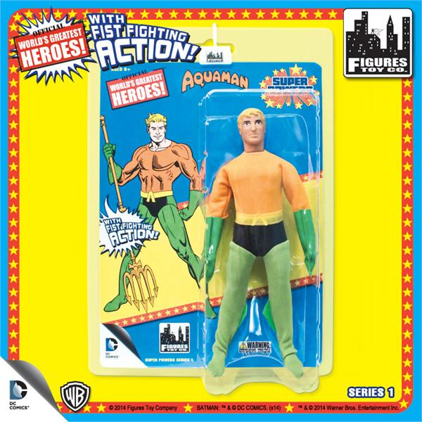 DC Retro Mego Kresge Style Super Powers Aquaman Action Figure - Action Figure Warehouse Australia | Comic Collectables