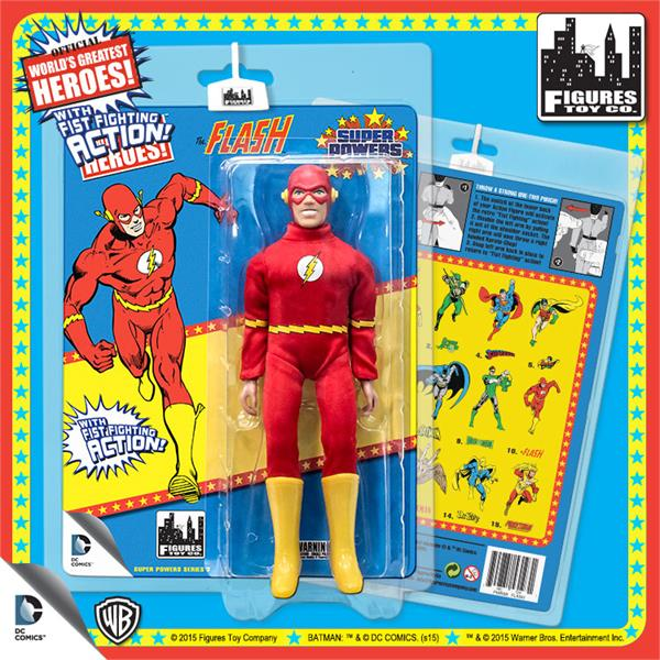 DC Retro Mego Kresge Style Super Powers The Flash Action Figure - Action Figure Warehouse Australia | Comic Collectables