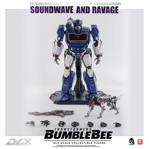 Transformers Threezero Bumblebee Movie Deluxe Soundwave & Ravage Action Figure Pre-Order
