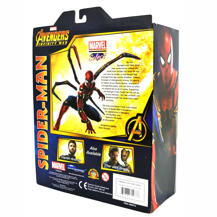 Marvel Diamond Select Infinity War Iron Spider Action Figure Pre-Order