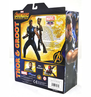 Marvel Diamond Select Infinity War Thor & Groot Action Figure