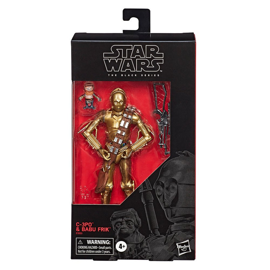 Star Wars Black Series Exclusive C-3PO & Babu Frik Action Figure