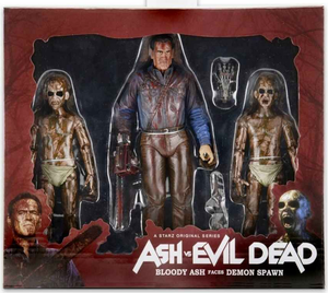 Ash vs Evil Dead Neca Bloody Ash Faces Demon Spawn Action Figure 3-Pack - Action Figure Warehouse Australia | Comic Collectables