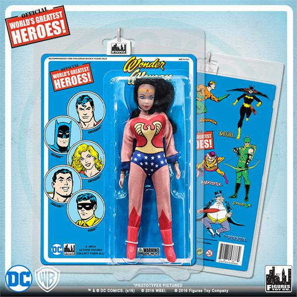 DC Retro Mego Kresge Style Wonder Woman Retro Blue Card Action Figure - Action Figure Warehouse Australia | Comic Collectables