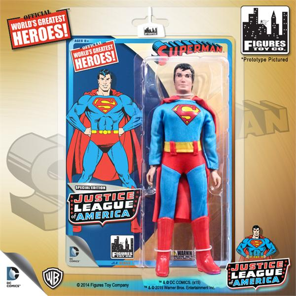 DC Retro Mego Kresge Style Justice League Superman Action Figure - Action Figure Warehouse Australia | Comic Collectables