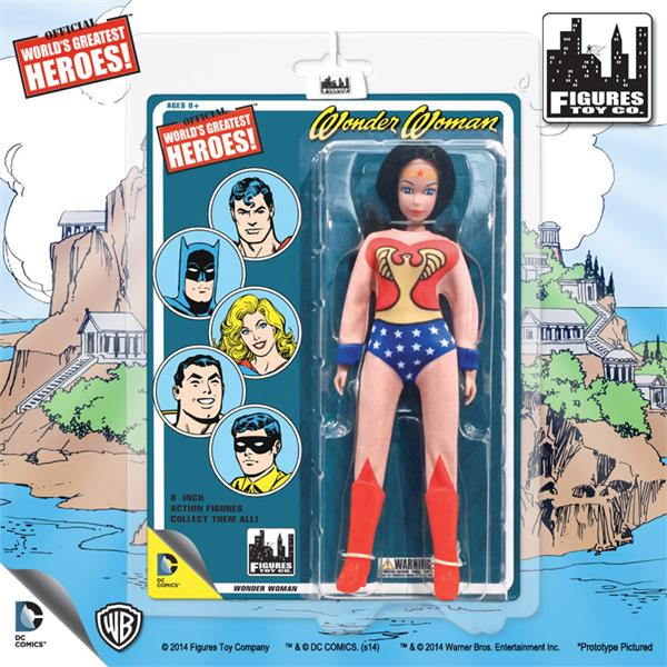 DC Retro Mego Kresge Style Wonder Woman Mego Artwork Action Figure - Action Figure Warehouse Australia | Comic Collectables
