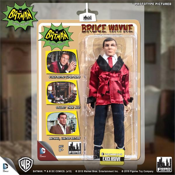DC Retro Mego Kresge Style Batman TV Series Bruce Wayne Lounge Jacket Action Figure - Action Figure Warehouse Australia | Comic Collectables