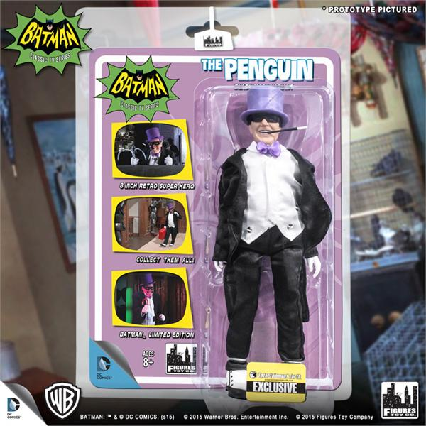 DC Retro Mego Kresge Style Batman TV Series The Penguin Black Mask Action Figure - Action Figure Warehouse Australia | Comic Collectables