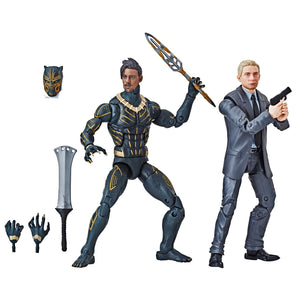 Marvel Legends Exclusive Everett Ross & Erik Killmonger Action Figure 2 Pack