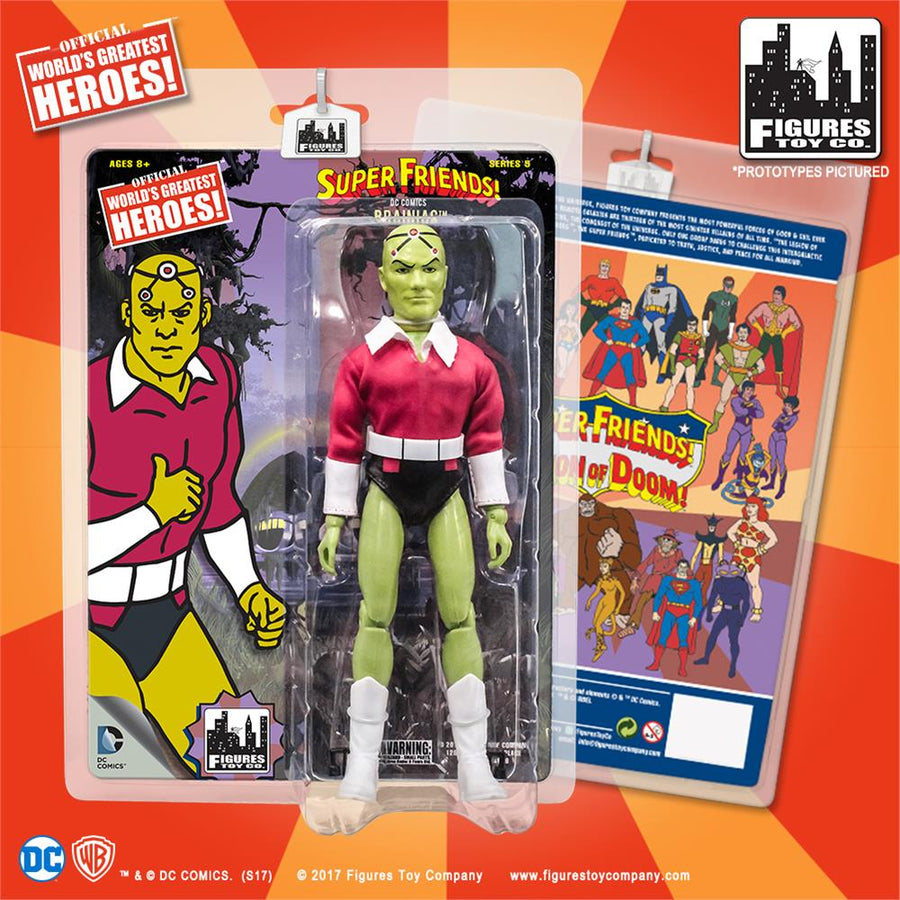 DC Retro Mego Kresge Style Super Friends Braniac Series 5 Action Figure - Action Figure Warehouse Australia | Comic Collectables