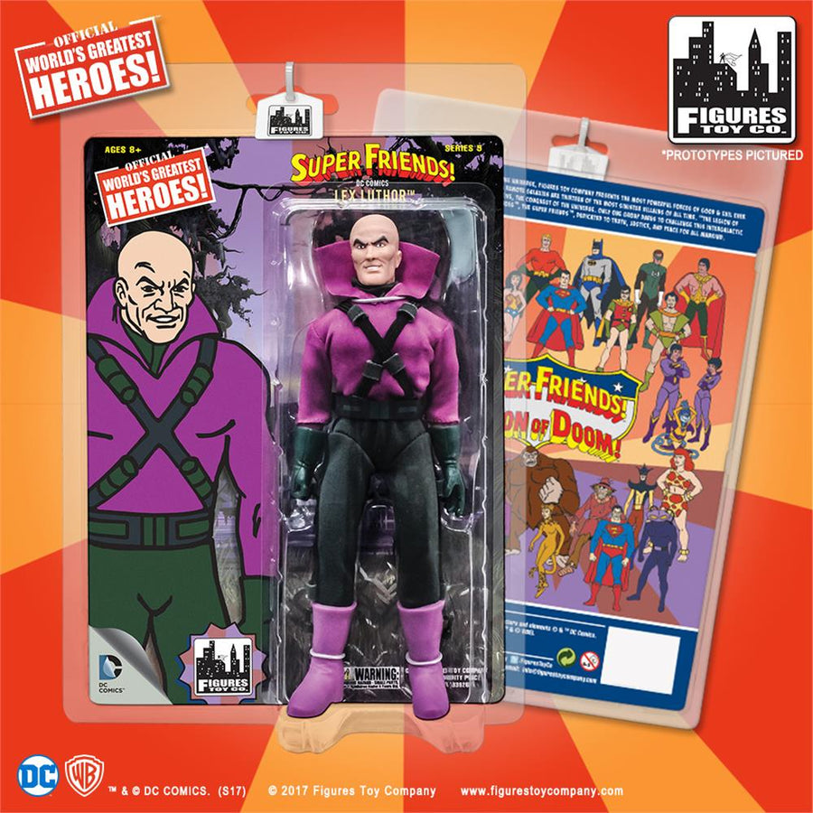 DC Retro Mego Kresge Style Super Friends Lex Luthor Series 5 Action Figure - Action Figure Warehouse Australia | Comic Collectables