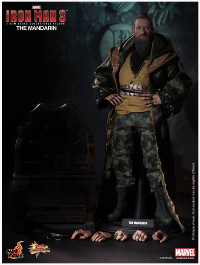 Marvel Hot Toys Iron Man 3 The Mandarin 1:6 Scale Action Figure HOTMMS211
