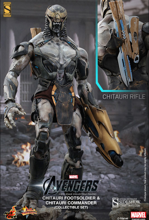 Marvel Hot Toys Avengers Chitauri Soldiers Set 1:6 Scale Action Figure HOTMMS228