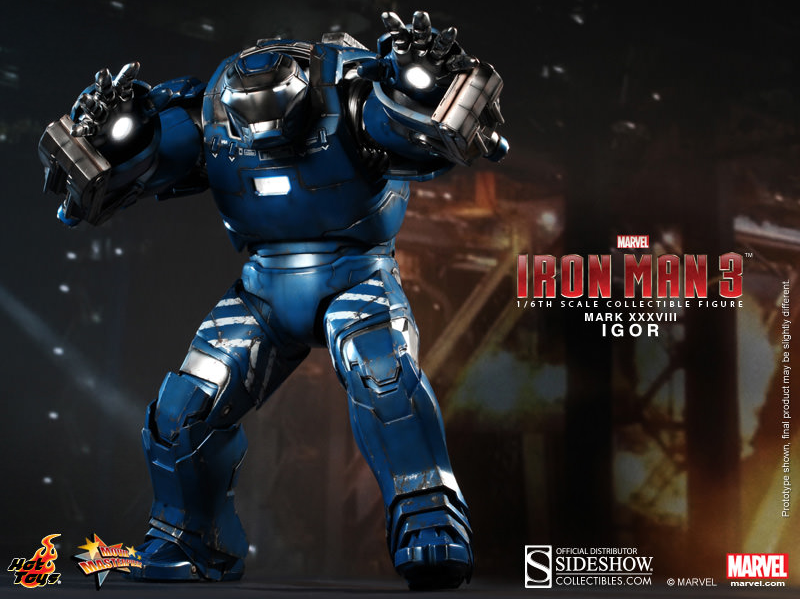 Marvel Hot Toys Iron Man 3 Mark XXXVIII Igor 1:6 Scale Action Figure HOTMMS215