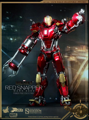 Marvel Hot Toys Iron Man 3 Iron Man Mark XXXV Red Snapper Power Pose HOTPPS002