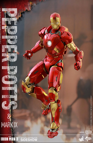 Marvel Hot Toys Iron Man Pepper Potts & Mark IX 1:6 Scale Action Figure HOTMMS311