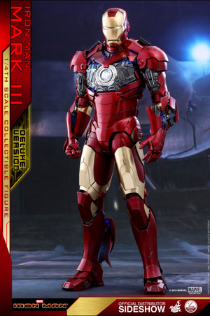 Marvel Hot Toys Deluxe Iron Man Mark III 1:4 Scale Action Figure HOTQS012 Pre-Order Sold Out