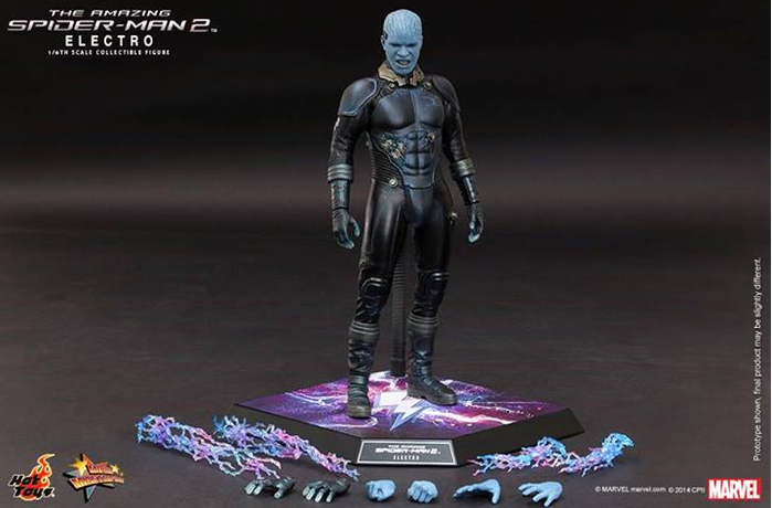 Marvel Hot Toys Spider-Man 2 Electro 1:6 Scale Action Figure HOTMMS246