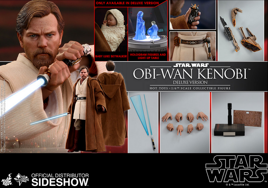 Star Wars Hot Toys Revenge of the Sith Obi-Wan Kenobi 1:6 Scale Action Figure HOTMMS477 Pre-Order