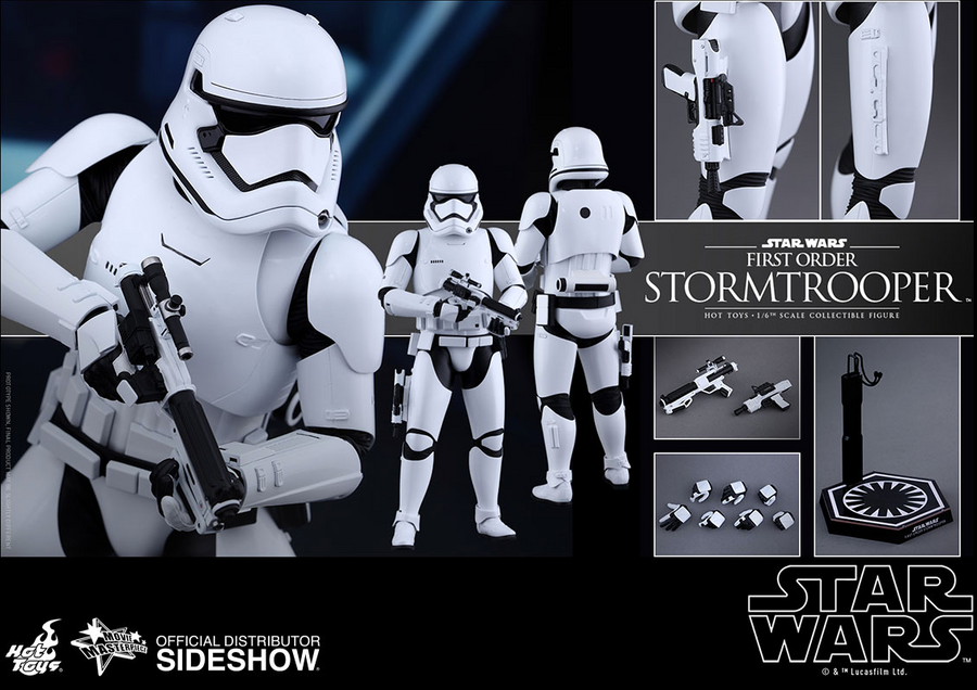 Star Wars Hot Toys First Order Stormtrooper 1:6 Scale Action Figure HOTMMS317