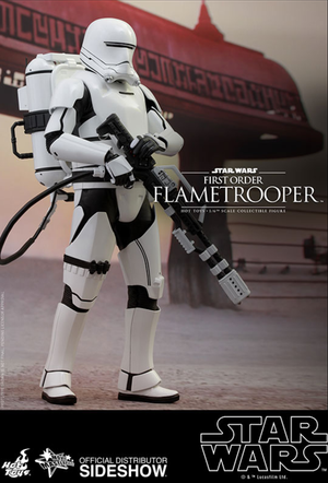 Star Wars Hot Toys First Order Flametrooper 1:6 Scale Action Figure HOTMMS326