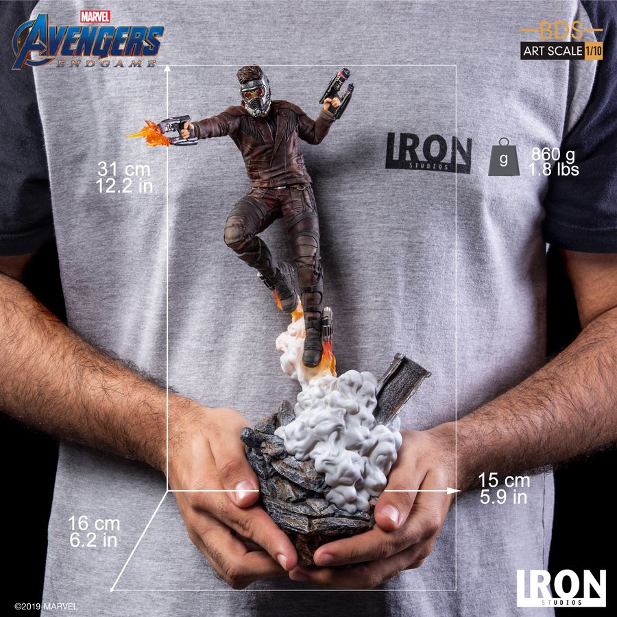 Marvel Iron Studios Avengers Endgame Star-Lord 1:10 Scale Statue