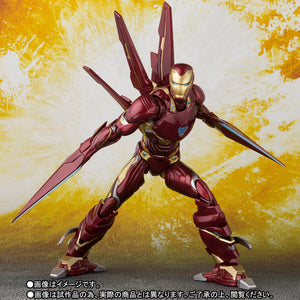 Marvel SH Figuarts Infinity War Iron Man Mark 50 w/ Nano Weapon Set Action Figure Pre-Order