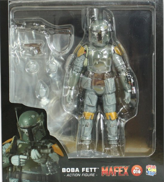 Star Wars Mafex Empire Strikes Back Boba Fett Action Figure #16