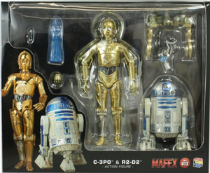 Star Wars Mafex Return of the Jedi C-3PO & R2-D2 Action Figure Set #12