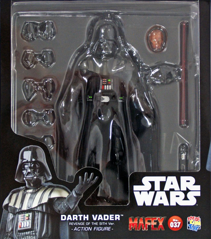 Star Wars Mafex Revenge of the Sith Darth Vader Action Figure #37