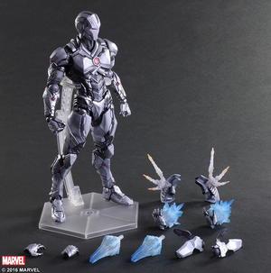 Marvel Square Enix Play Arts Kai Iron Man Grey Variant Action Figure