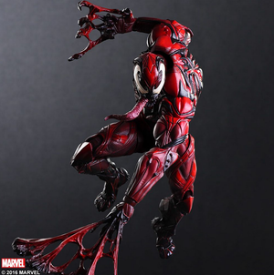 Marvel Square Enix Play Arts Kai Spider-Man Venom Red Variant Action Figure