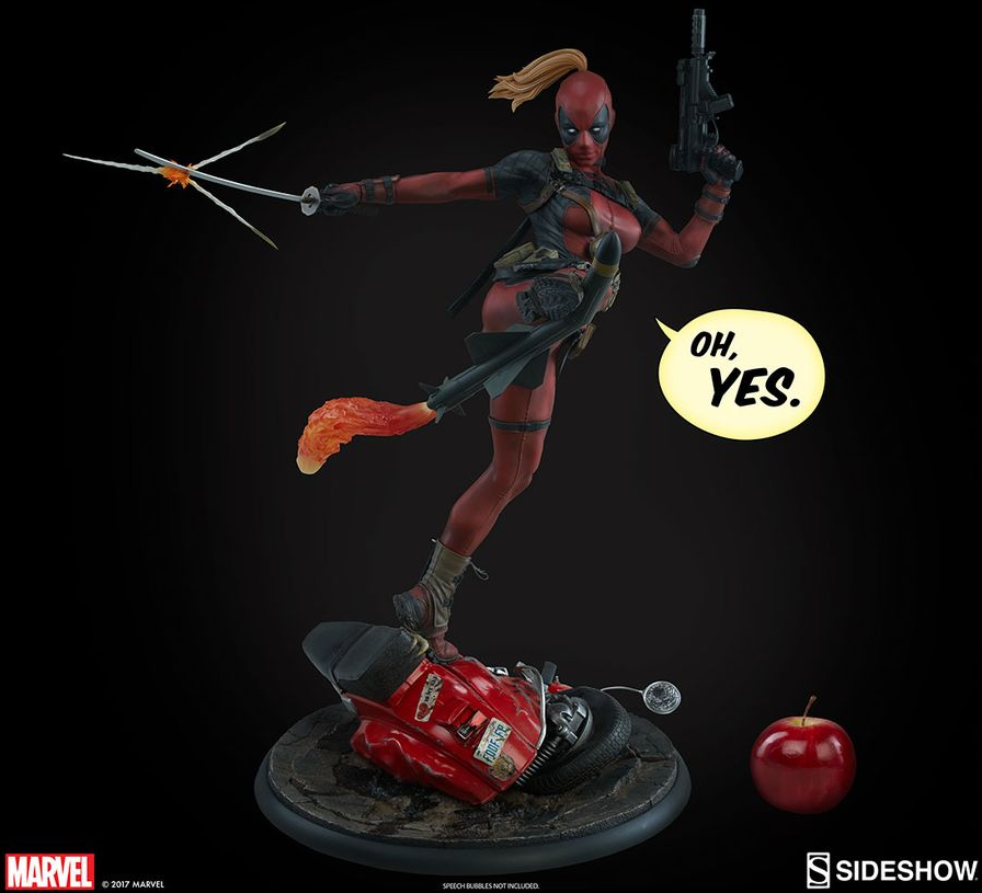 Marvel Sideshow Collectibles Lady Deadpool Premium Format 1:4 Scale Statue