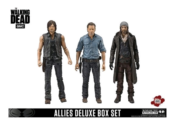 The Walking Dead TV Series Rick Daryl Jesus Allies Deluxe Action Figure 3-Pack