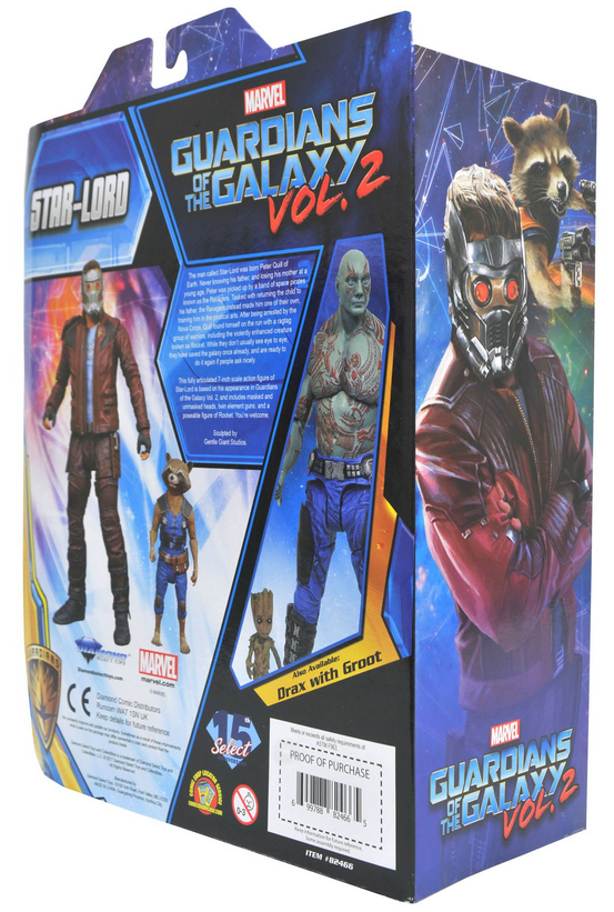 Marvel Diamond Select Guardians Of The Galaxy Star-Lord & Rocket Action Figure