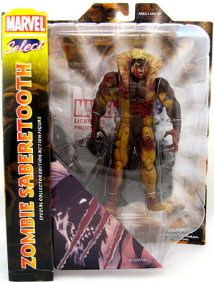 Marvel Diamond Select Zombie Sabertooth Action Figure