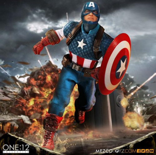 Marvel Mezco Captain America One:12 Scale Action Figure