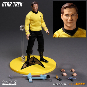 Star Trek Mezco Captain Kirk One:12 Scale Action Figure