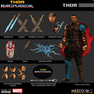 Marvel Mezco Ragnarok Gladiator Thor One:12 Scale Action Figure Pre-Order