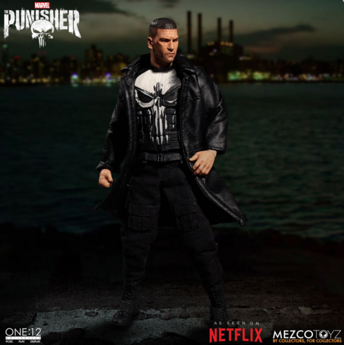 Marvel Mezco Netflix Punisher Frank Castle One:12 Scale Action Figure Pre-Order