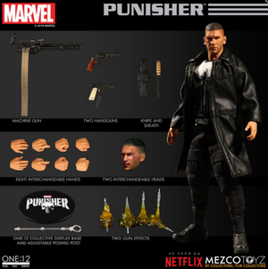 Marvel Mezco Netflix Punisher Frank Castle One:12 Scale Action Figure