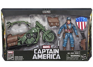 Marvel Legends 80th Anniversary Series Captain America w/ WWII Motorcycle Action Figure