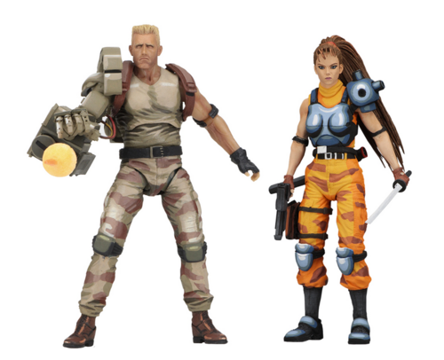 Neca Alien Vs Predator Arcade Dutch & Lin 7 Inch 2 Pack Action Figure