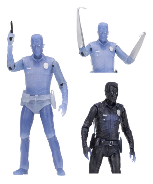 Terminator Neca T2 T-1000 White Hot Kenner Tribute Action Figure