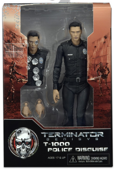 Terminator Neca Genisys T-1000 Police Disguise Action Figure