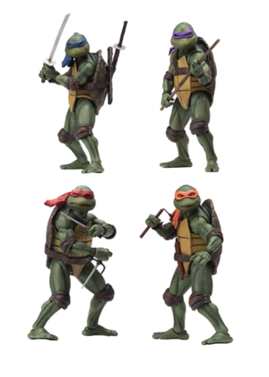 Teenage Mutant Ninja Turtles Neca 1990 Set of Four Action Figure Pre-Order